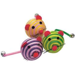 Gioco in barattolo topolini a righe colorati